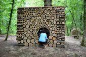 Point d'intérêt Somme-Leuze -  Sentiers d'art - L'artbri cubique (Abri artistique) - Photo 1